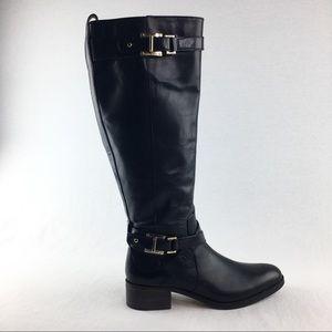 Louise et Cie Wmns 8M Leather Riding Boots Black